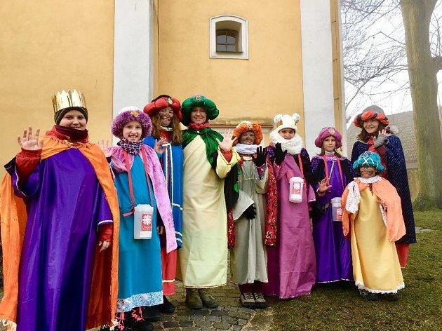 Tříkrálová sbírka v Rokytnici nad Rokytnou.