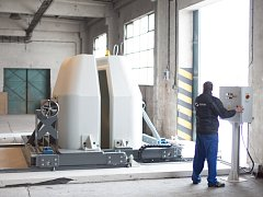 Stínicí sarkofág cyklotronu na výrobu radiofarmak.