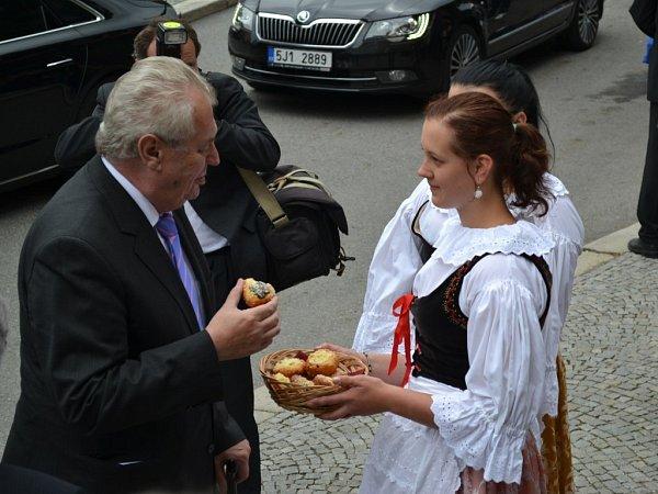 Prezident Miloš Zeman vHumpolci.