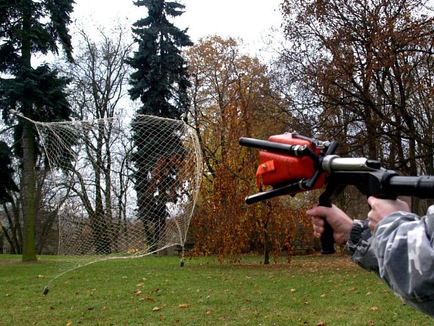 Třebíčská pobočka Ligy na ochranu zvířat dostala od sponzora vystřelovací síť k odchytu psů. Kromě psů, labutí a dravých ptáků je možné troufnout si i na menší kočkovitou šelmu.