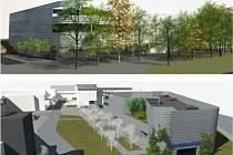 Vizualizace toho, jak by mohl nový parkovací dům vypadat.