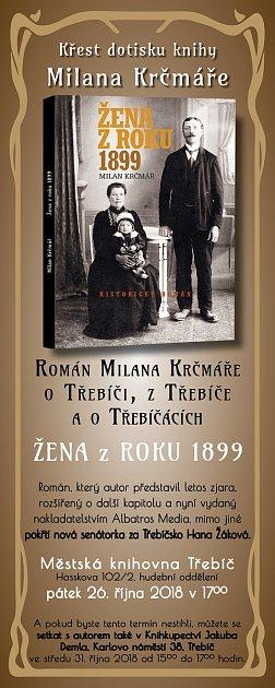 Pozvánka na křestl knihy Žena zroku 1899.