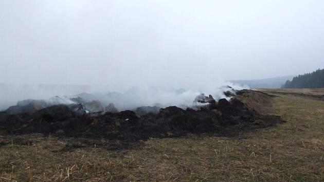 Tentokrát hořelo u Jemnice.