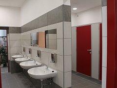 Nové veřejné záchodky v centru Třebíče.