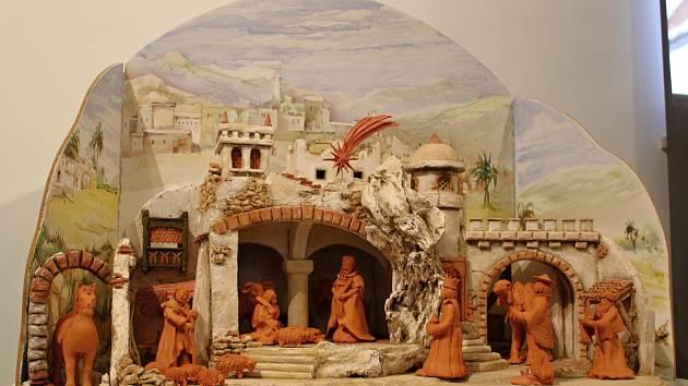 Výstava rakouských a třebíčských betlémů v konírně třebíčského zámku.