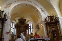 Kostel v Babicích, posledním působišti faráře Václava Drboly.