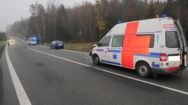 Pondělní ranní dopravní nehoda, která se stala na silnici II/360 v katastru obce Vlčatín.