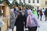 Vánoční trhy na třebíčském náměstí.