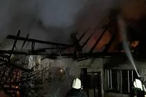 V pondělí večer hořel v Nové Brtnici rodinný dům.