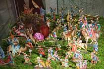 Výstava betlému v třebíčském zámku.