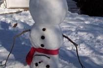 Je tu zima. V Hartvíkovicích vyhlásili soutěž Hartvíkovický sněhulák