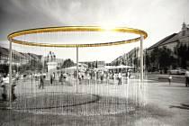 Vítězný návrh kašny pro Karlovo náměstí v Třebíči atelier H3T architekti, s.r.o. - MgA. Vít Šimek, MgA. Štěpán Řehoř.
