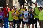 Před startem pražského maratonu s týmem Atleticu Třebíč.