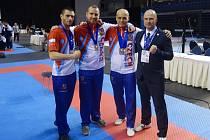 Třebíčští borci na mistrovství Evropy v estonském Tallinnu.