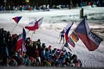 Diváci na závodu SP v biatlonu v Novém Městě na Moravě.