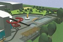 V regeneračním centru v Novém Městě na Moravě by návštěvníci měli podle původního projektu  najít nejen wellness a fitnes zónu, ale i hotel.