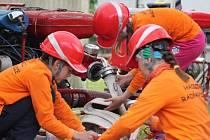 Seriál závodů o Novoměstský pohár soptíků odstartoval v Dlouhém. Osmnáct družstev z osmi obcí předvádělo rychlý hasičský útok.