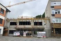 Ze stavby nového dětského oddělení.