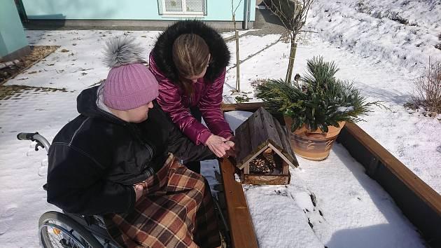 Klienti Rosy letos poprvé využijí novou zahradu se stimulačními prvky