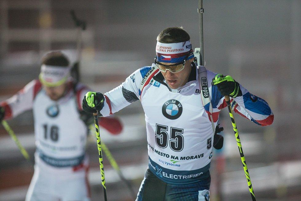 Závod SP v biatlonu (sprint 10 km muži) v Novém Městě na Moravě. Na snímku: Michal Krčmář.