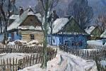 Obrazy a sgrafita Jana Blažka.
