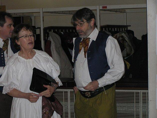Radim Uzel na Folklorním plese.