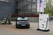 Obě žďárské nabíjecí stanice se představily letos na jaře na mezinárodním veletrhu AMPER 2019 v Brně.