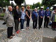 Skauti se sešli na místním hřbitově u hrobu Božetěcha Tomana. Foto: Stanislav Vinopal