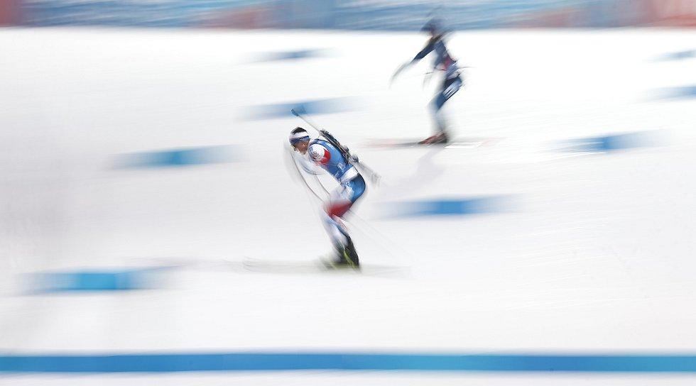 Jakub Štvrtecký v závodu Světového poháru v biatlonu v závodu sprintu mužů na 10 km.
