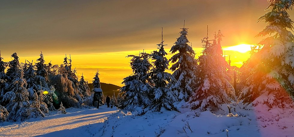 Podívejte se na zasněžený Praděd, vřesovou studánku či pohled z Červené hory