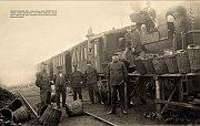 Vlak na nádraží v Ledči nad Sázavou.