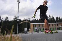 Čeští biatlonisté se společně s Gabrielou Soukalovou připravují v Novém Městě na nadcházející sezonu.