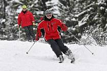Poprvé se na Harusově kopci lyžovalo v pátek 20. prosince.