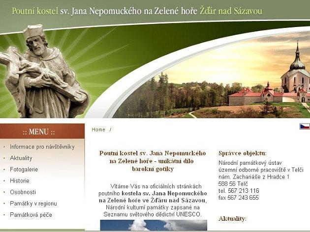 Webové stránky Zelené hory.