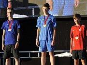 Novoměstský orientační běžec Šimon Mareček (vlevo) získal na Olympiádě dětí a mládeže 2017 v Brně stříbrnou medaili ve sprintu.