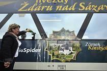 Křest vlaku Regio Spider s regionální reklamou.