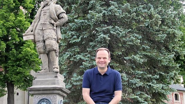 Vítěz letošních voleb v Novém Městě na Moravě Michal Šmarda.