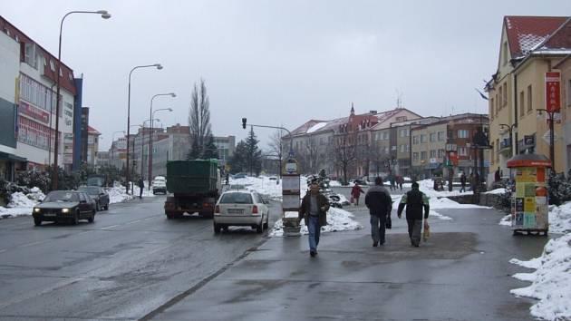 Žďárské náměstí Republiky.