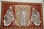 Karel Němec vyzdobil sgrafity i kostel svaté Kunhuty.