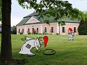 Ze žďárského kláštera se ztratila socha - děti si při Dnech otevřených zahrad zahrají na detektivy.