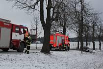 Dopravní nehoda nedaleko Rokytna