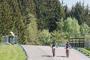 První tréninky na MTB world cup v Novém Městě na Moravě.