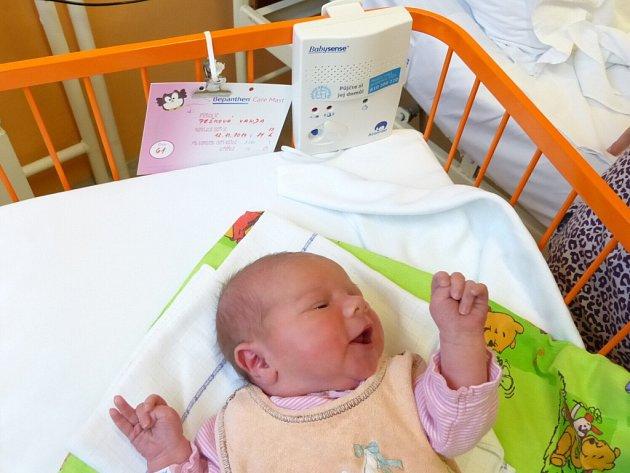Monitory dechu Babysense II připevněné na postýlkách miminek na novorozeneckém oddělení novoměstské nemocnice monitorují pravidelný dech novorozenců.