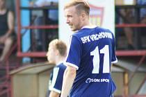 Miroslav Kovář mohl být po prvním zápase spokojený. Gólem přispěl k vítěznému obratu Vrchoviny na 2:1.