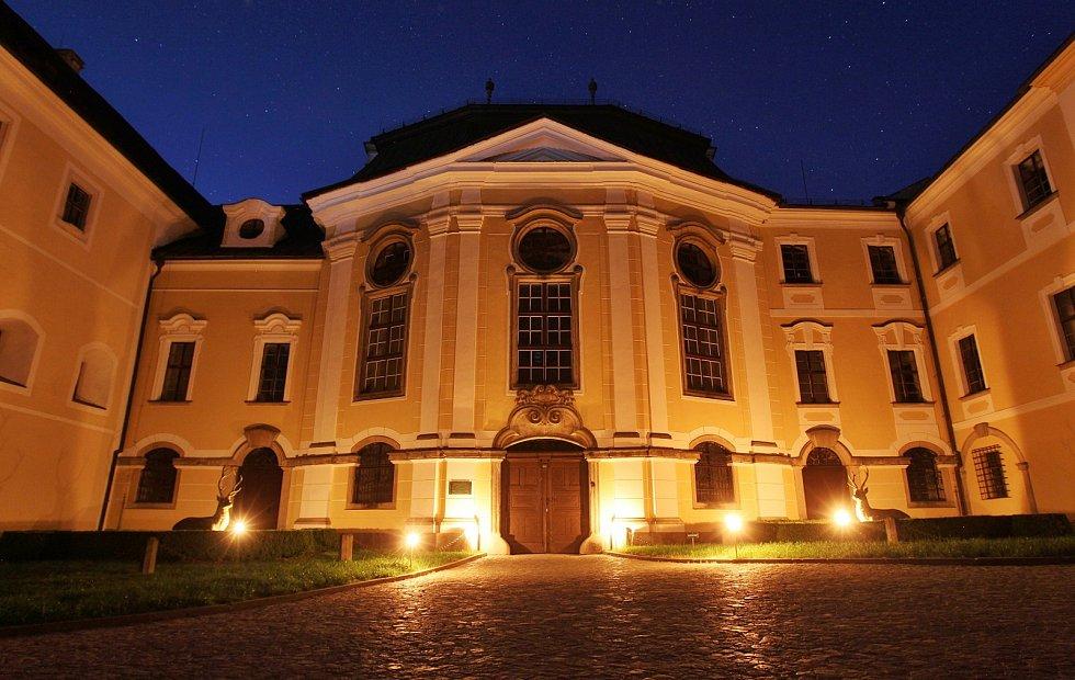 Večerní prohlídky na žďárském zámku. Ilustrační foto.