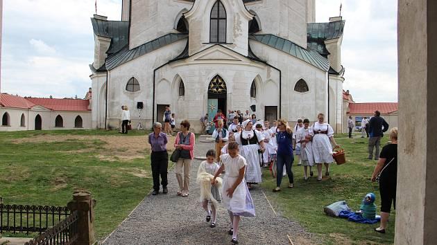 Kostel svatého Jana Nepomuckého na Zelené hoře ve Žďáru nad Sázavou.