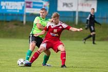 Los nového ročníku MSFL rozhodl o tom, že na podzim se fotbalisté Nového Města (v zeleném) a Velkého Meziříčí utkají v rámci šestého kola 13. září.