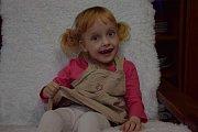 Čtyřletá Natálka je podle svých rodičů i přes své onemocnění veselá a chytrá holčička.