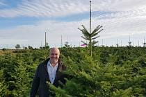 O vánoční stromky se v Rozkvetlém domově stará Josef Hošek. Vybírá je osobně na plantáži a řežou se až těsně před prodejem, aby byly co nejčerstvější.