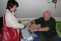 Volby v Domě klidného stáří ve Žďáře nad Sázavou.